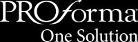 Proforma One Solution logo in black and white